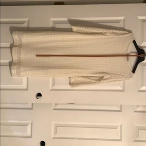 Off white lace dress with belt